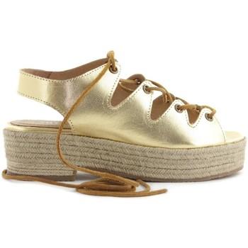 Zapatos Mujer Alpargatas Cubanas Sandália Florence130M Oro