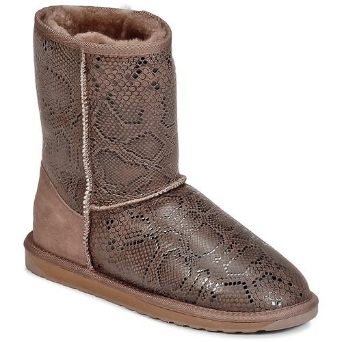 Zapatos promocionales EMU STINGER PRINT LO Marrón  Zapatos de mujer baratos zapatos de mujer