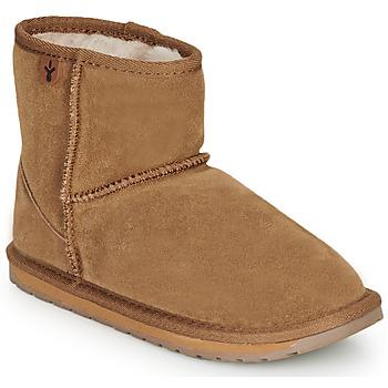 Zapatos Niños Botas de caña baja EMU WALLABY MINI Castaño