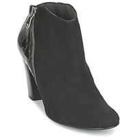 Zapatos Mujer Low boots France Mode NANTES Negro / Barniz