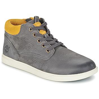Zapatos Niños Botas de caña baja Timberland GROVETON LEATHER CHUKKA Gris