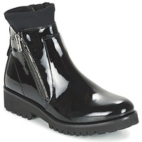 Zapatos Mujer Botas de caña baja Regard REJABI Negro / Barniz