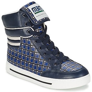 Zapatos Mujer Zapatillas altas Marc by Marc Jacobs CUTE KIDS MINI TOTO PLAID Azul / Multicolor