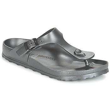 Zapatos Mujer Chanclas Birkenstock GIZEH EVA Antracita / Metalico