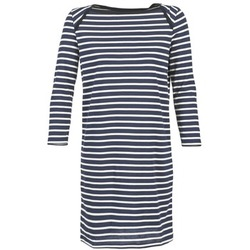 textil Mujer vestidos cortos Petit Bateau EREMATE Marino / Blanco
