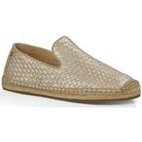 Zapatos Mujer Mocasín UGG Slipper Sandrinne Metallic Oro