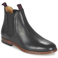 Zapatos Hombre Botas de caña baja Hudson TAMPER CALF Negro