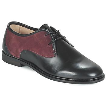 Zapatos Mujer Derbie M. Moustache EUGENIE Negro / Burdeo