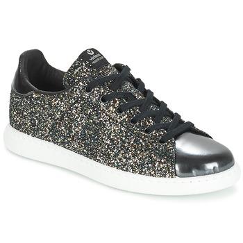 Zapatos Mujer Zapatillas bajas Victoria DEPORTIVO BASKET GLITTER Negro