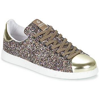Zapatos Mujer Zapatillas bajas Victoria DEPORTIVO BASKET GLITTER Multicolor