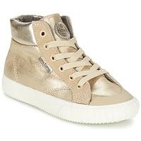 Zapatos Niña Zapatillas altas Victoria BOTA METALIZADA PU Oro