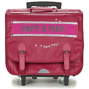 Bolsos Niña Mochila / Cartera con ruedas Ikks HAPPY TROLLEY CARTABLE 41CM Rosa