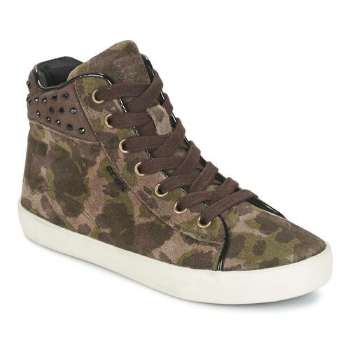 Zapatos Niña Zapatillas altas Geox KIWI GIRL Verde
