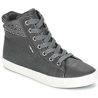 Zapatos Niña Zapatillas altas Geox KIWI GIRL Gris
