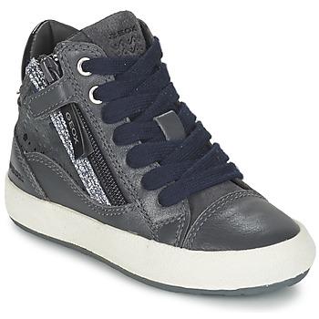 Zapatos Niña Zapatillas altas Geox WITTY Gris