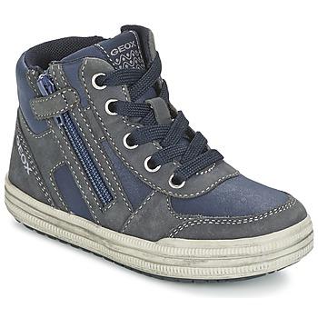 Zapatos Niño Zapatillas altas Geox ELVIS Azul / Gris