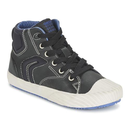 Zapatos Niño Zapatillas altas Geox ALONISSO BOY Negro / Azul