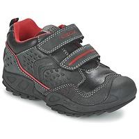 Zapatos Niño Zapatillas bajas Geox NEW SAVAGE BOY Negro / Rojo