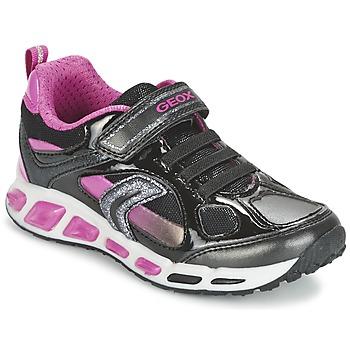 Zapatos Niña Zapatillas bajas Geox SHUTTLE GIRL Negro / Rosa