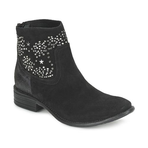 Zapatos Mujer Botines Meline VELOURS STARTER Negro