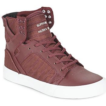 Zapatos Zapatillas altas Supra SKYTOP Burdeo