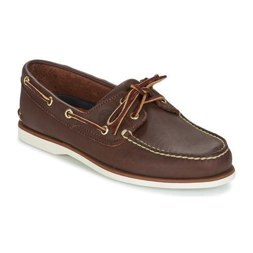 Zapatos Hombre Zapatos náuticos Timberland CLASSIC 2 EYE Marrón