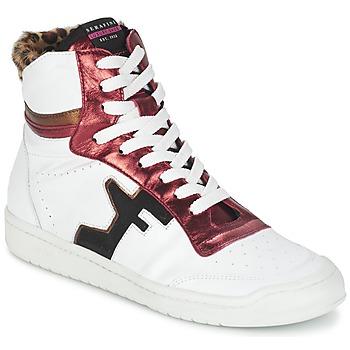 Zapatos Mujer Zapatillas altas Serafini SAN DIEGO Blanco / Rojo