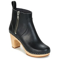 Zapatos Mujer Botines Swedish hasbeens ZIP IT SUPER HIGH Negro