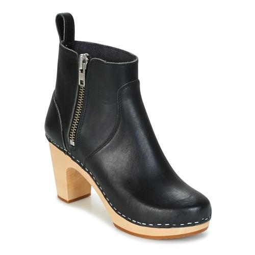 Zapatos de mujer baratos zapatos de mujer Zapatos especiales Swedish hasbeens ZIP IT SUPER HIGH Negro