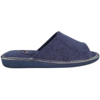 Zapatos Hombre Pantuflas Vulladi DE IR POR CASA  TOALLA AZUL