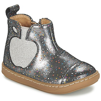 Zapatos Niña Botas de caña baja Shoo Pom BOUBA APPLE Plata