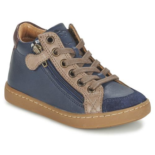 Zapatos Niños Zapatillas altas Shoo Pom PLAY HIBI ZIP Marino / Topotea