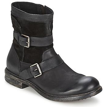 Zapatos Hombre Botas de caña baja Dream in Green HASSIB Negro