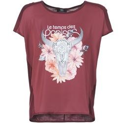 textil Mujer camisetas manga corta Le Temps des Cerises CRANEFLO Burdeo