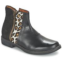 Zapatos Niña Botas de caña baja Shwik TIJUANA WILD Negro / Leopardo
