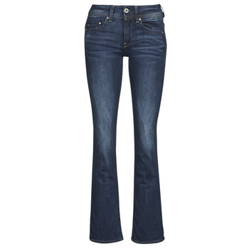 textil Mujer vaqueros bootcut G-Star Raw MIDGE SADDLE MID BOOTLEG Neutro / Stretch / Denim / Envejecido