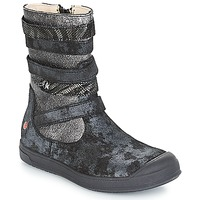 Zapatos Niña Botas urbanas GBB NOURIA Negro / Metalizado