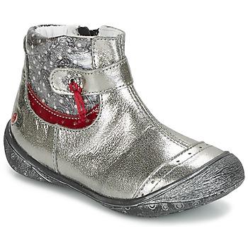 Zapatos Niña Botas de caña baja GBB NYMPHE Gris / Estampado