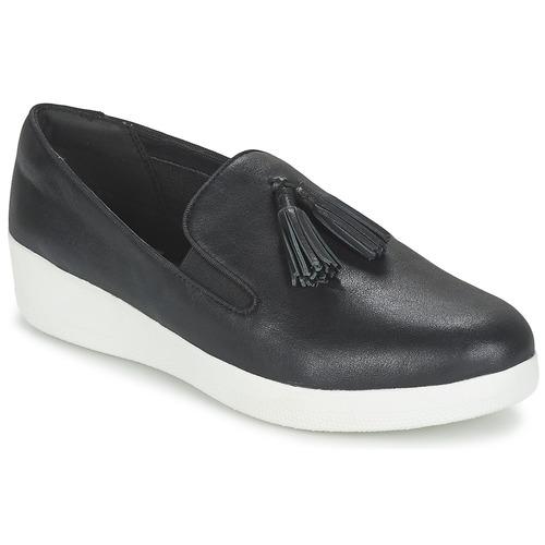 FitFlop TASSEL SUPERSKATE Negro - Envío gratis | ! - Zapatos Slip on Mujer