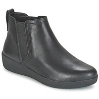 Zapatos Mujer Botas de caña baja FitFlop SUPERCHELSEA BOOT Negro