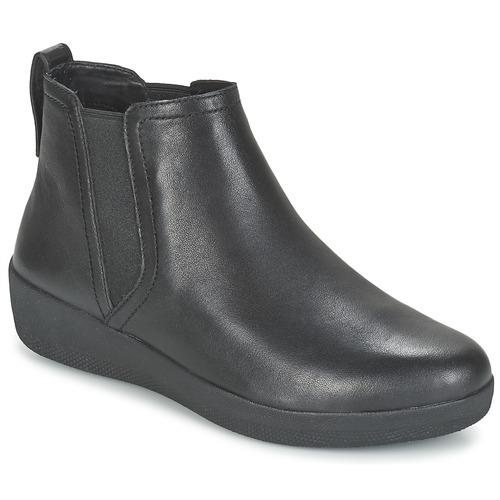 Casual salvaje Zapatos especiales FitFlop SUPERCHELSEA BOOT Negro