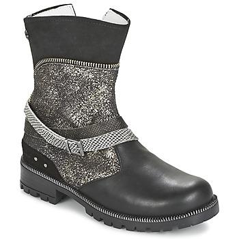 Zapatos Niña Botas de caña baja Ikks ROBERTA Negro / Gris