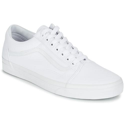 Recortes de precios estacionales, beneficios de descuento Vans OLD SKOOL Blanco - Envío gratis Nueva promoción - Zapatos Deportivas bajas   Blanco