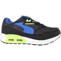 Zapatos Niños Zapatillas bajas John Smith RESO M JR 15I NEGRO-VERDE Negro