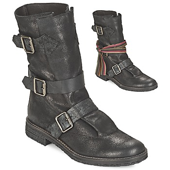 Zapatos Mujer Botas de caña baja Felmini CREPONA Negro