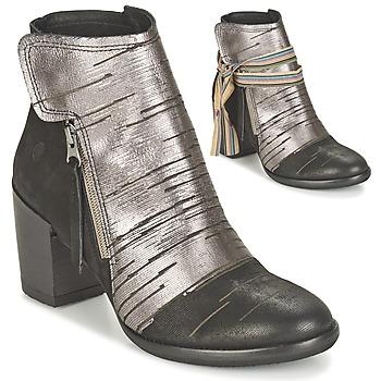 Zapatos Mujer Botines Felmini CARMEN Negro / Plata