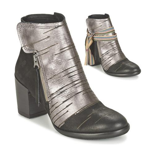 Zapatos promocionales Felmini CARMEN Negro / Plata  Venta de liquidación de temporada
