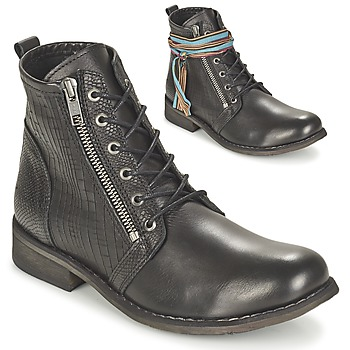 Zapatos Mujer Botas de caña baja Felmini BEJA Negro