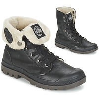 Zapatos Mujer Botas de caña baja Palladium BAGGY LEATHER FS Negro