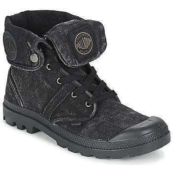 Zapatos Hombre Botas de caña baja Palladium US BAGGY Negro / Metalico